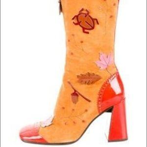 Vintage Prada suede boots